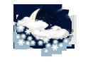 mäßiger Schneeschauer