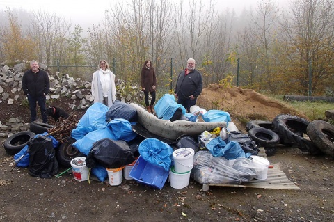 Kinder sammeln 2,5 Tonnen Müll