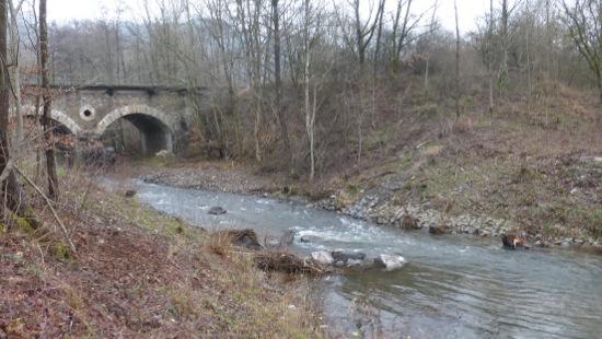 """Der Zustand nach dem Rückbau des Wehrs """"Herdorf Bahnbrücke"""" mit Blickrichtung flussaufwärts. (Foto: SGD Nord)"""