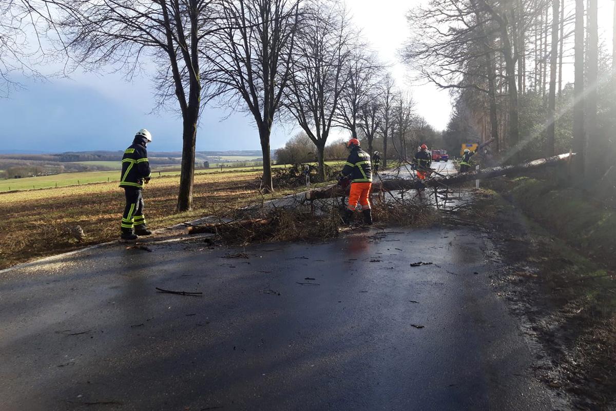 Sturm Luis forderte Feuerwehr Oberdreis