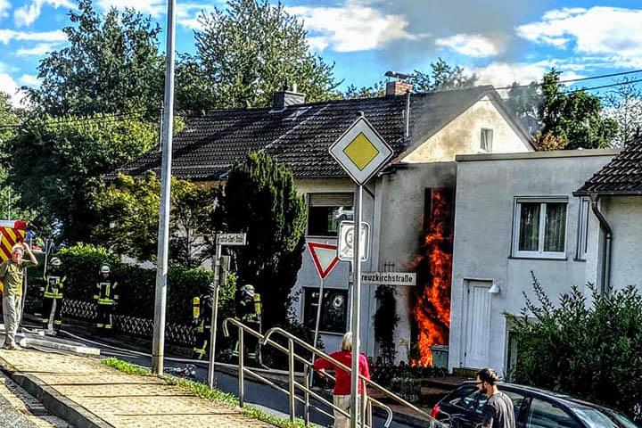 Garagenbrand in Melsbach