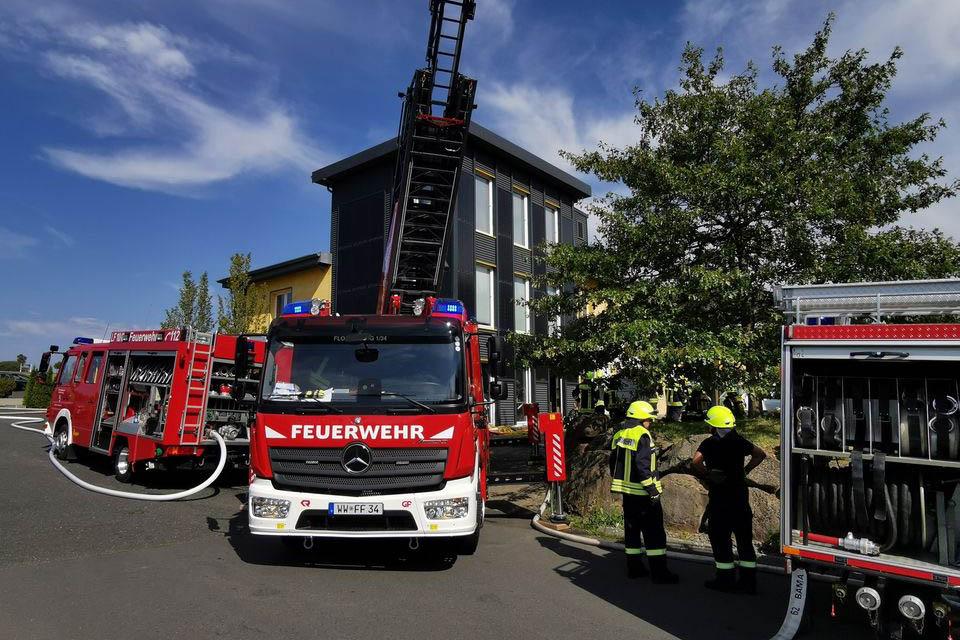 Brand in einer Firma im Gewerbepark West in Bad Marienberg