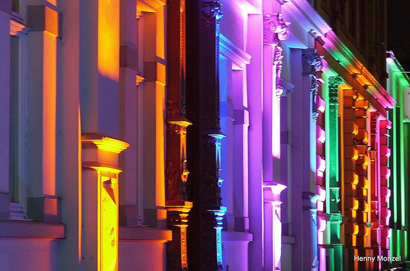 Lichtkunst lässt Bendorfer Innenstadt strahlen