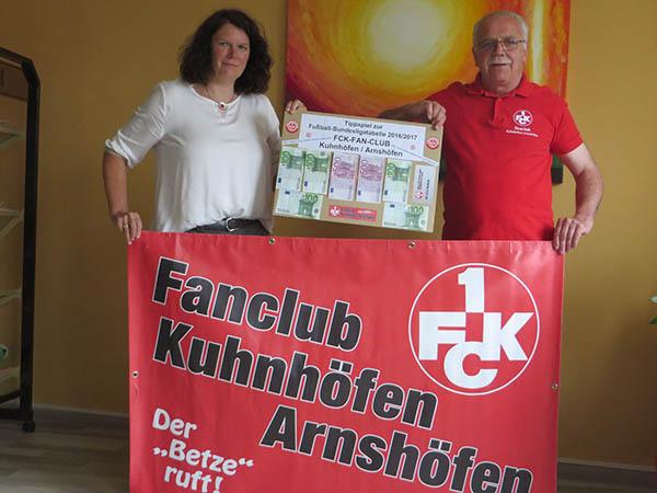 Fan-Club des FC Kaiserslautern unterstützt Hospiz St. Thomas