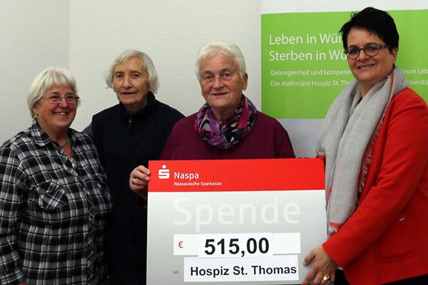Seniorengruppe St. Martin unterstützt Hospiz St. Thomas