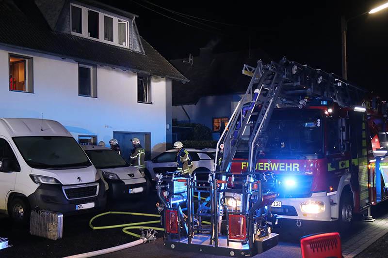 Gebäudebrand in Asbach-Krankel