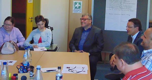 Michael Mahlert besucht Berufliches Assessment- und Förderzentrum