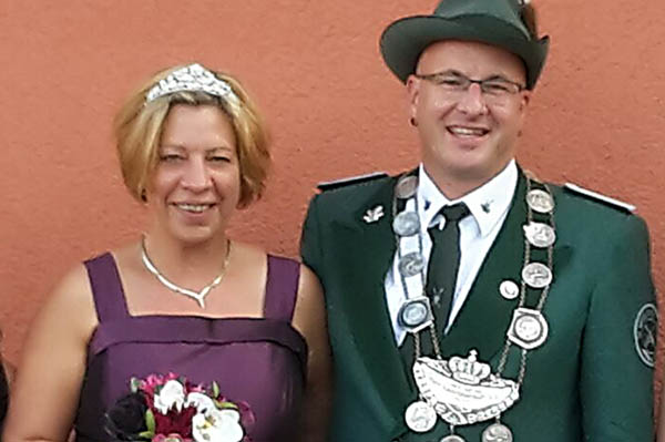Königspaar der Schützen Andreas und Silke Frings. Fotos: Veranstalter