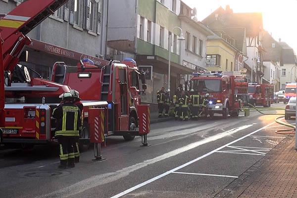 Hotel Hirsch in Rengsdorf brannte