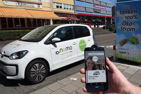 """Carsharing: SWN machen mit """"nemo"""" elektrisch mobil"""