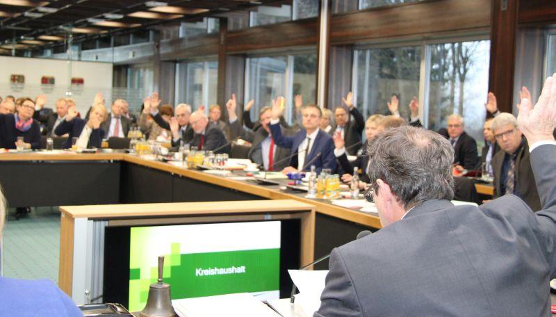 Kreishaushalt 2019 mit Stimmen aller Fraktionen beschlossen