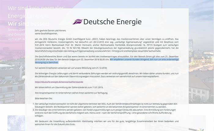 """Billiger heißt nicht besser: """"Deutsche Energie"""" beantragt Insolvenz"""