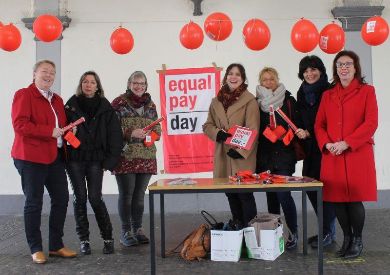 Aktion der Gleichstellungsbeauftragten am Equal Pay Day
