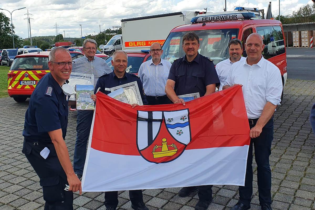 Wechsel der Einsatzkräfte aus Schleswig-Holstein in Windhagen