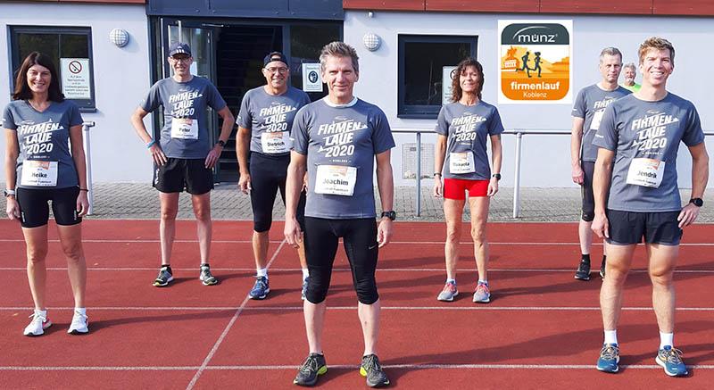 Lauftreff Puderbach nimmt mit am virtuellen Münz Firmenlauf 2020 teil. Foto: Lauftreff Puderbach/Gerd Schumacher