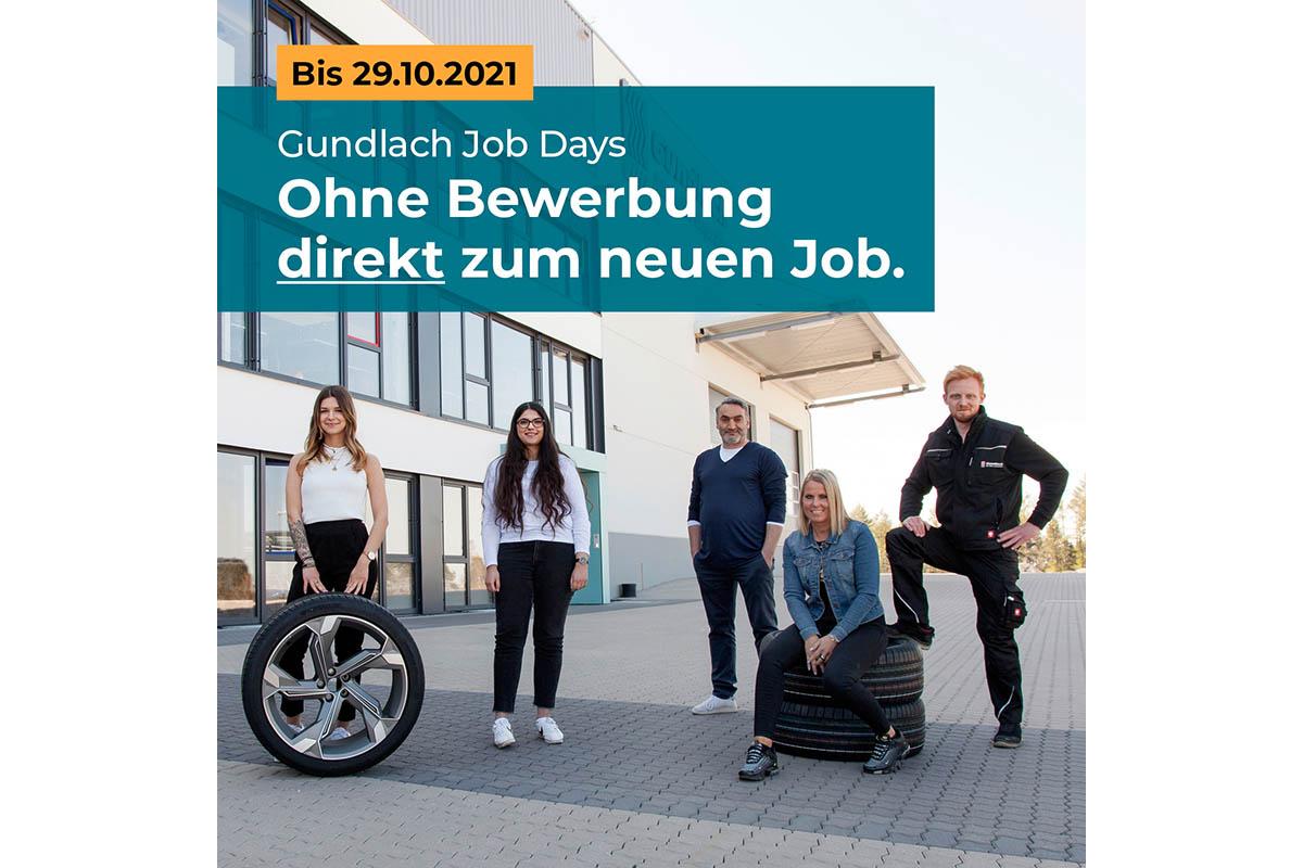 Gundlach Job-Weeks: Jeder Tag ist Job-Day bis 29. Oktober
