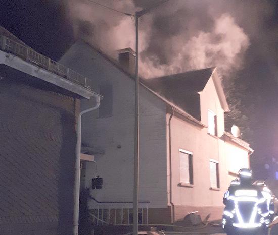 Dachstuhlbrand in Herdorf ging glimpflich aus