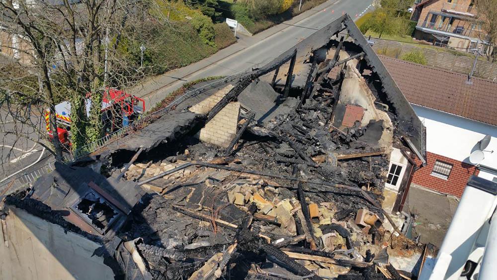 Ursache des Großbrandes in Urbach geklärt