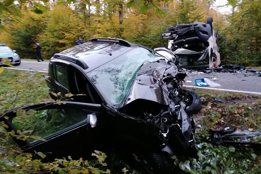Tödlicher Verkehrsunfall auf der L 299 bei Hüblingen