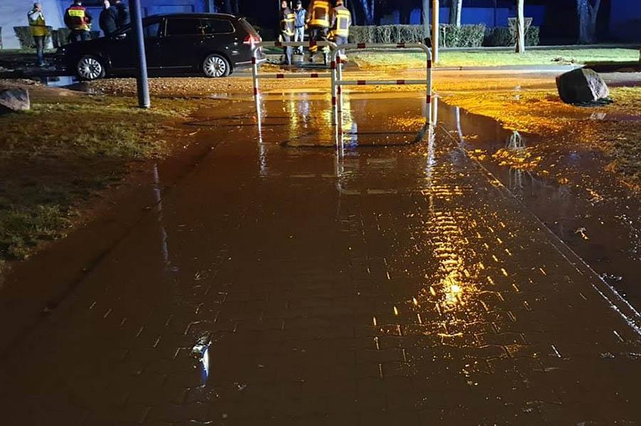 Raiffeisenring Neuwied überschwemmt - Wasserleitung geplatzt