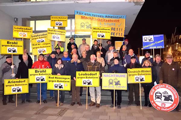 Bahnlärminitiative zeigte Geschlossenheit bei 62. Demo