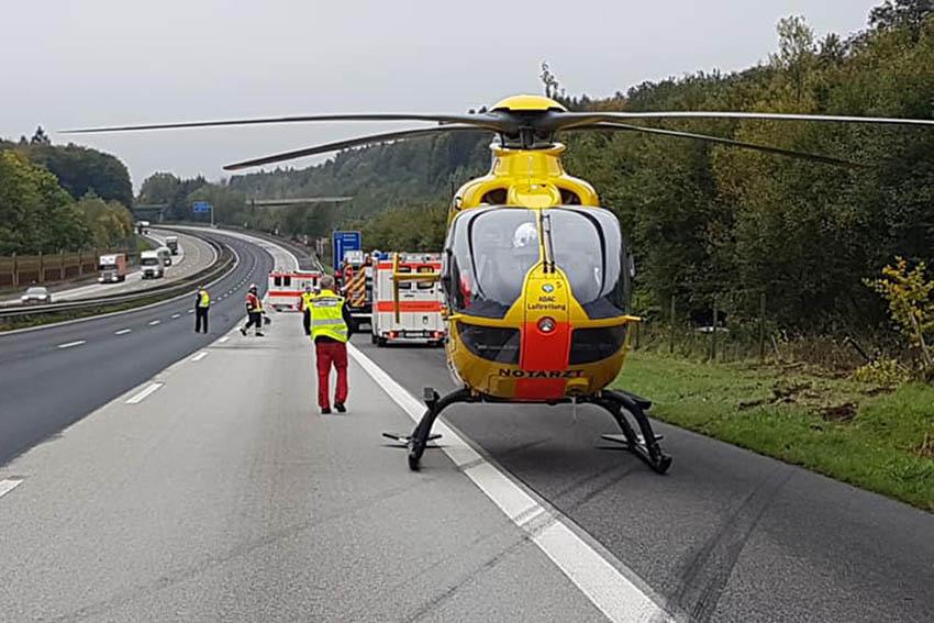 Gemeldeter LKW-Brand entpuppt sich als Verkehrsunfall