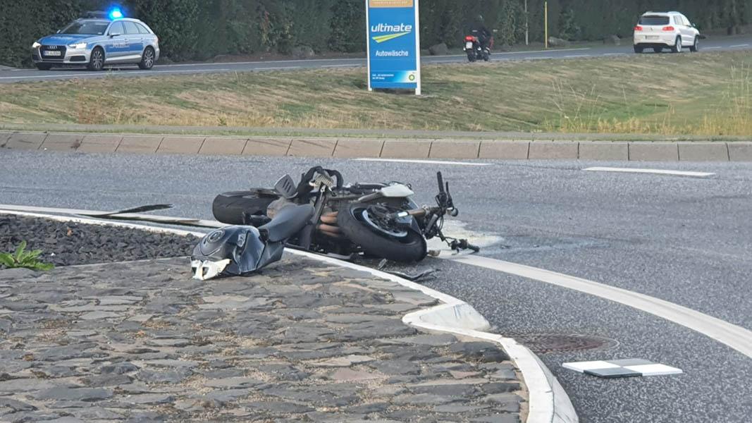 Schwerer Unfall in Mogendorf - Motorradfahrer tot