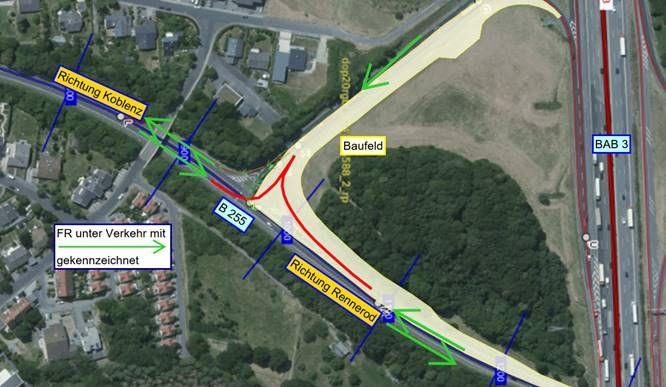 Nächster Bauabschnitt zum Ausbau der Anschlussstelle A3 / B255