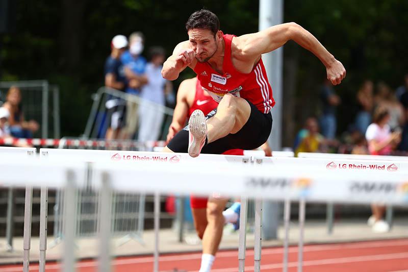 Kai Kazmirek lief bei der Kurpfalz Gala über 100, 200 und 110 Meter Hürden. Foto: Verein