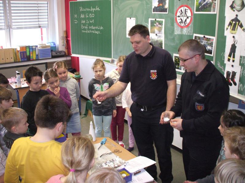 Grundschüler lernten Brandschutz aus erster Hand