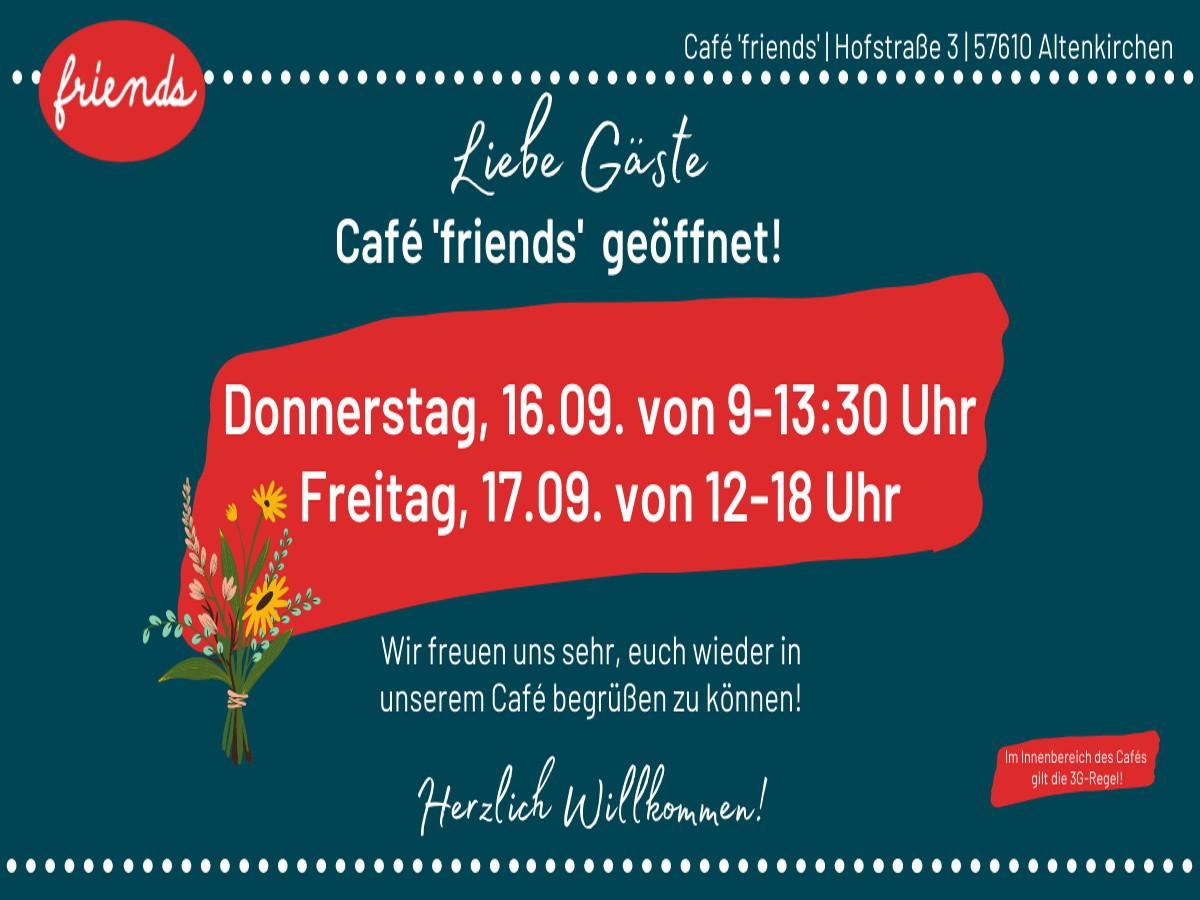 """Friends of Jesus"" öffnen ""Friends""-Café in Altenkirchen"