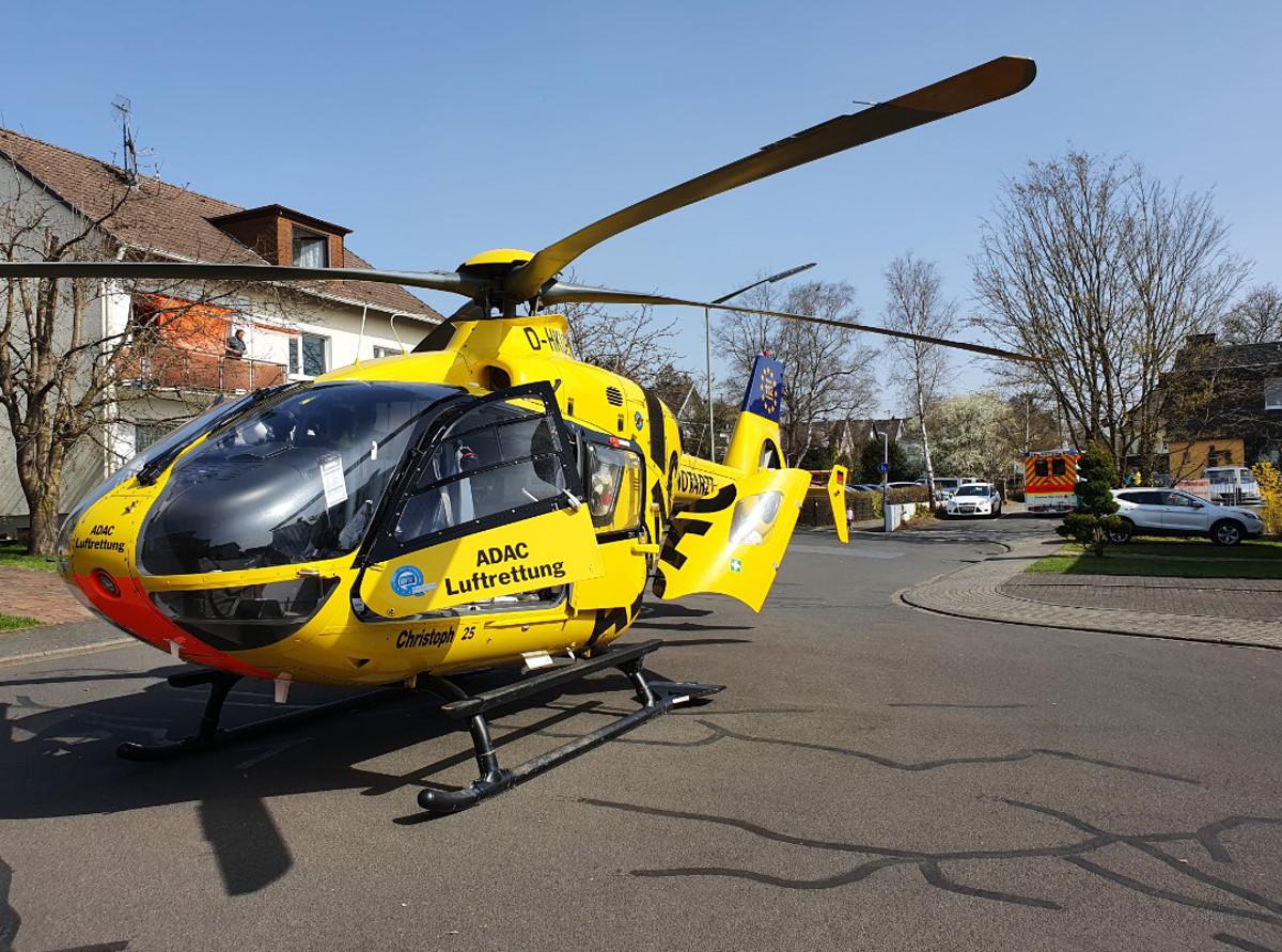 Gaffer haben sich heute in Altenkirchen an einem Rettungshubschrauber-Einsatz ergötzt. Foto: Polizeidirektion Neuwied/Rhein