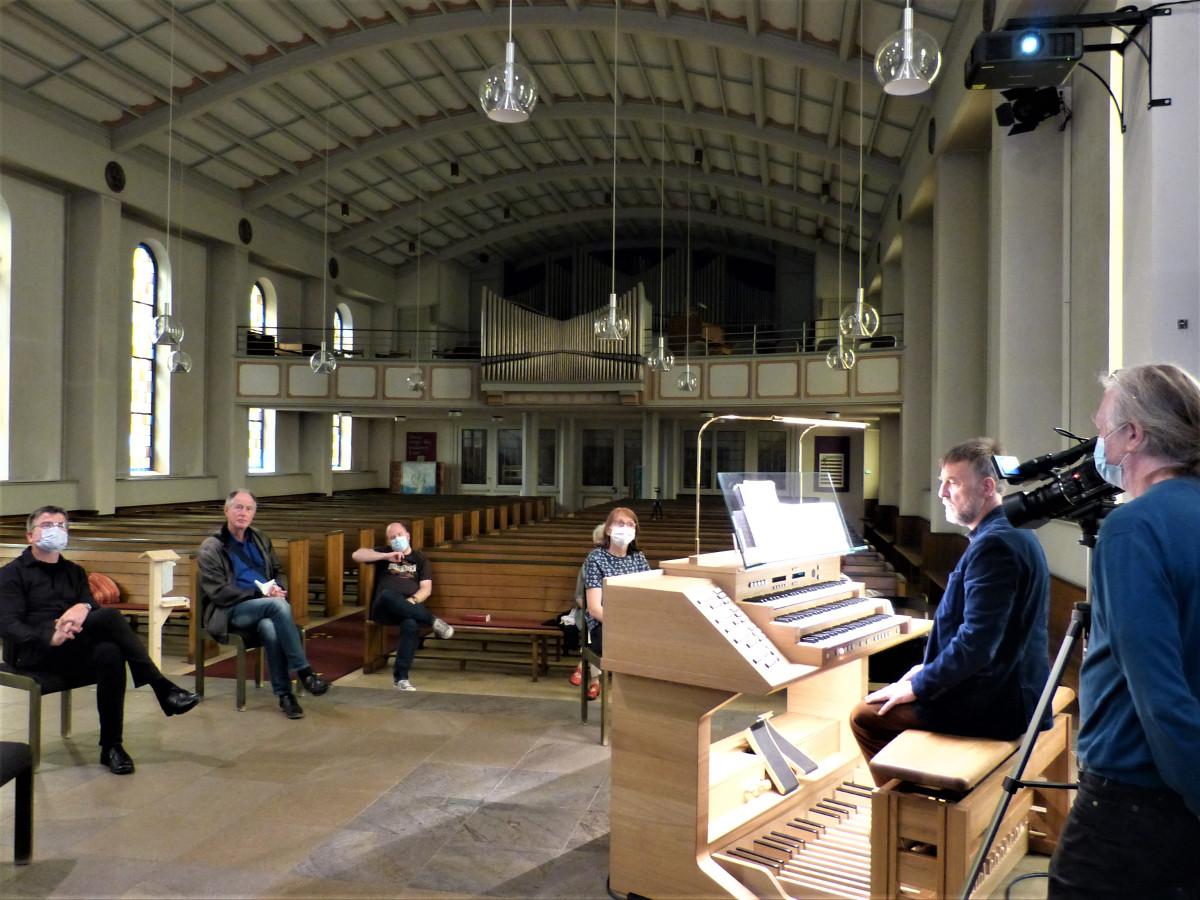 Orgel und Spieltisch faszinieren in der Konzertkirche Altenkirchen