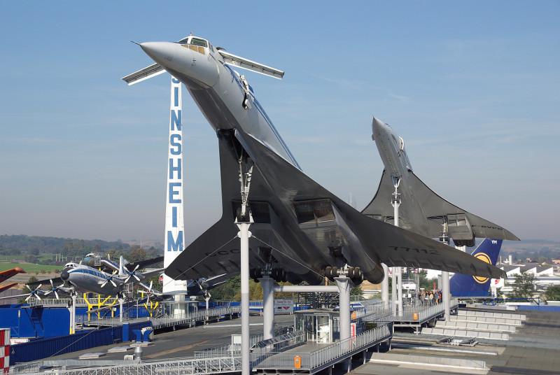 Die Original Concorde der Air-France ist eines der Exponate im Technikmuseum. Foto: Auto und Technik Museum Sinsheim
