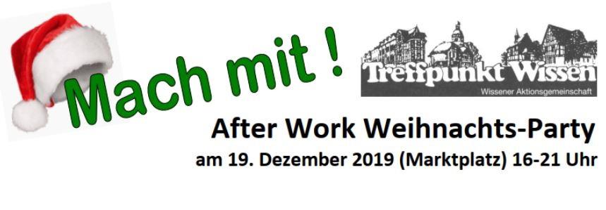 After-Work-Weihnachtsparty in Wissen mit Tombola