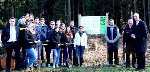 Auszubildende der Westerwald Bank eG pflanzten 1.000 Bäume
