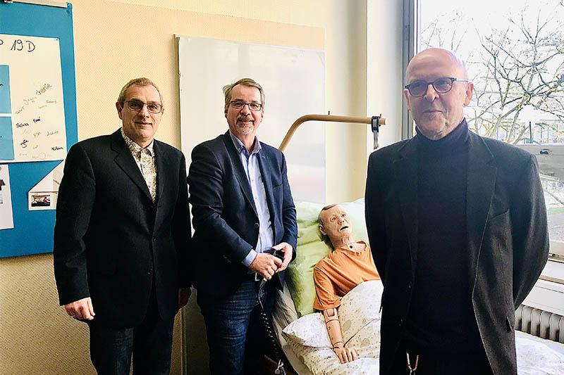 Sven Lefkowitz an Alice-Salomon-Schule in Neuwied zu Gast