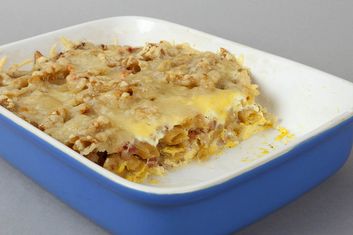 Westerwälder Rezepte: Schinken-Käse-Nudelauflauf