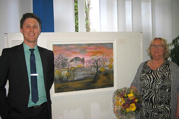Trude Petry zeigt Bilder in Westerwald Bank Rengsdorf