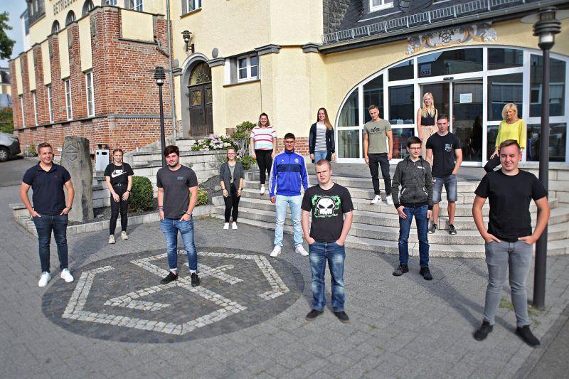 Ausbildungsstart 2020 bei der Steuler-Gruppe in Höhr-Grenzhausen. Foto: privat