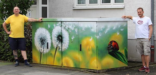 Graffitikunst der Künstler Schramm und Klukas