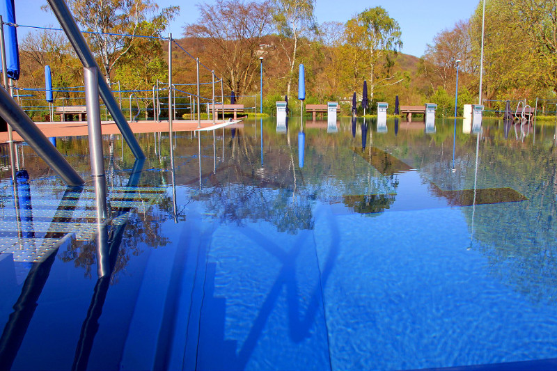 Saisonende im Freizeitbad Grafenwerth am 15. September 2019