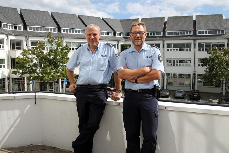 Wachwechsel der Bezirksdienstbeamten im Bad Honnefer Rathaus