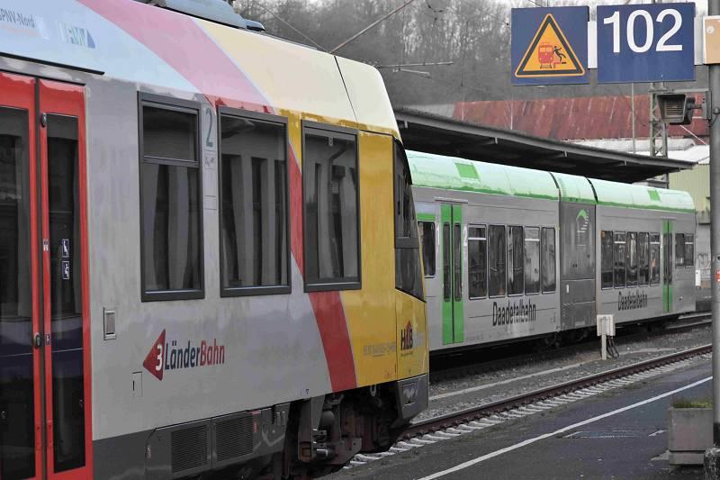 Bahnunfall auf der Strecke von HLB und Daadetalbahn