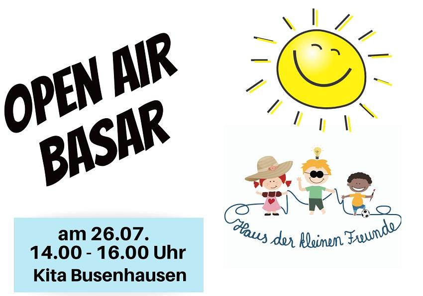 Kita Busenhausen führt Open Air Basar durch