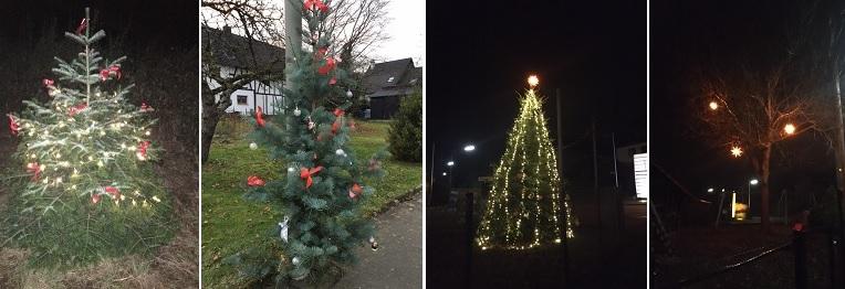 Schöne Weihnachtsbäume: Etzbach leuchtet