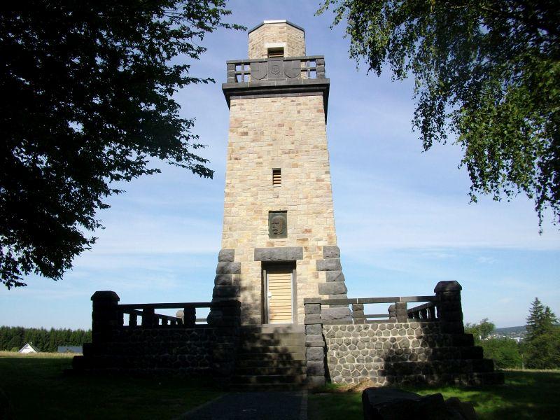 Rad-Wanderung durch vier Flusstäler zum Bismarckturm