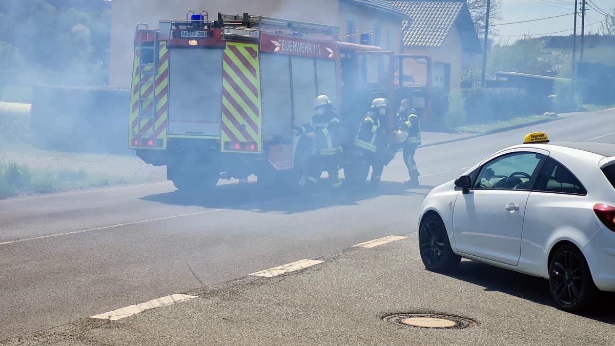Flächenbrand in Leuzbach: Feuerwehr konnte schnell löschen