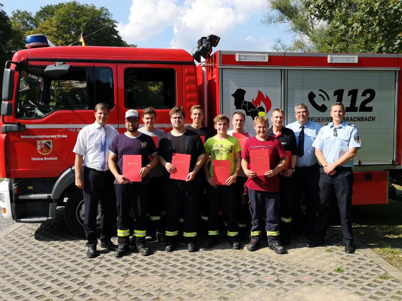 Feuerwehren r�ckten zur Jahres�bung aus