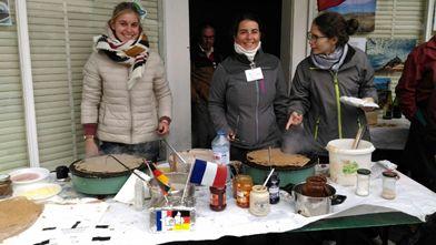 Freunde aus Pleurtuit auf Töpfermarkt Ransbach-Baumbach